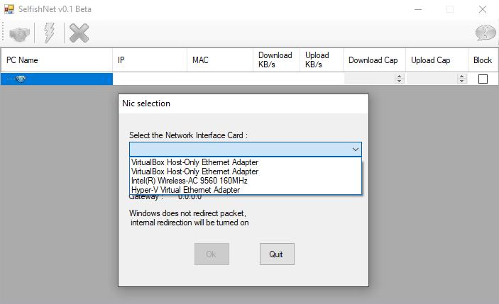 تشغيل برنامج سيلفش نت SelfishNet Win 7 Win 8 Win 10